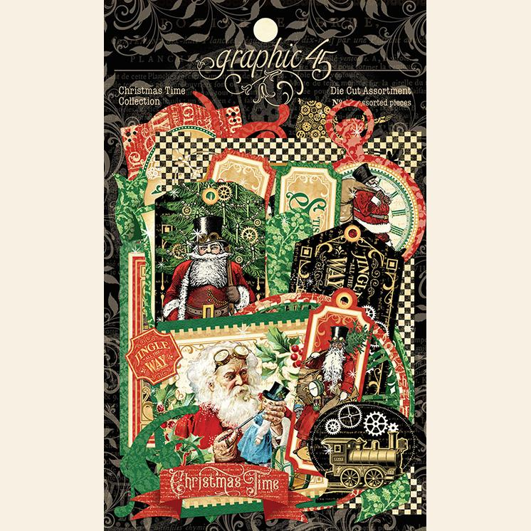 Graphic 45 4502124 Christmas Time - Die Cut Assortment