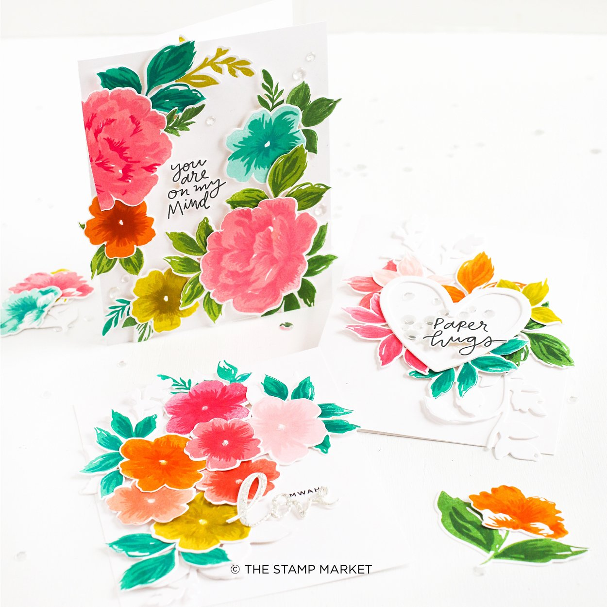 The Stamp Market セット♪ - Layered Rose