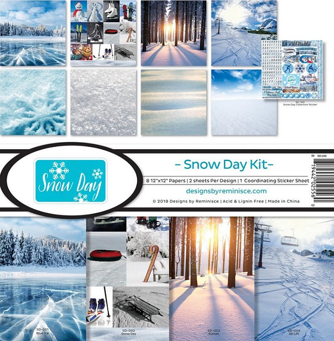 Reminisce Ella & Viv Collection Kit 12×12 - SD200 Snow Day