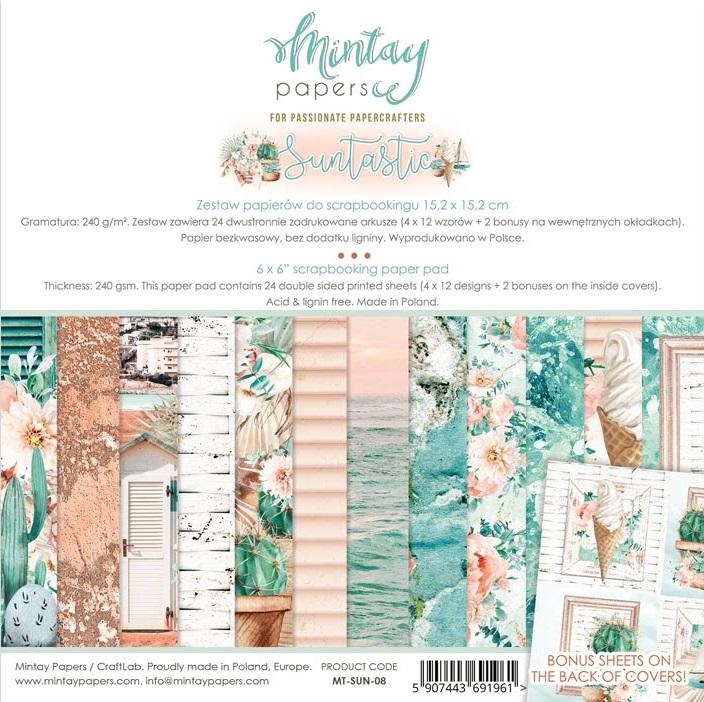 Mintay 6 x 6 Paper Set - MT-SUN-08 Suntastic