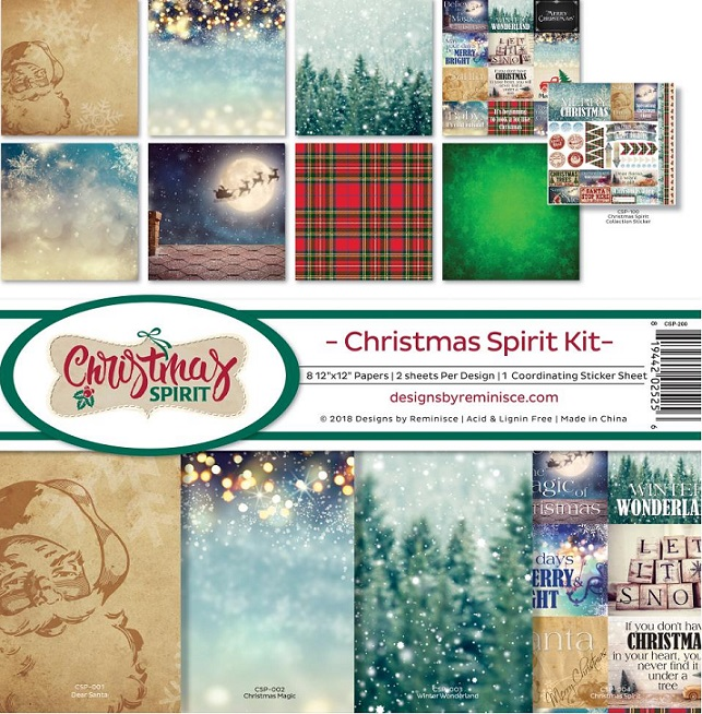 Reminisce Ella & Viv Collection Kit 12×12 - CSP200 Christmas Spirit