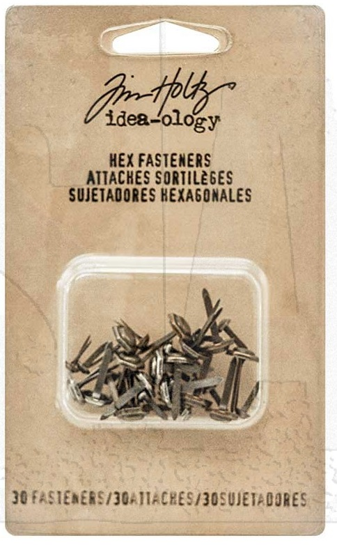 Tim Holtz  Idea-Ology - TH93268 Metal Hexagon Paper Fasteners