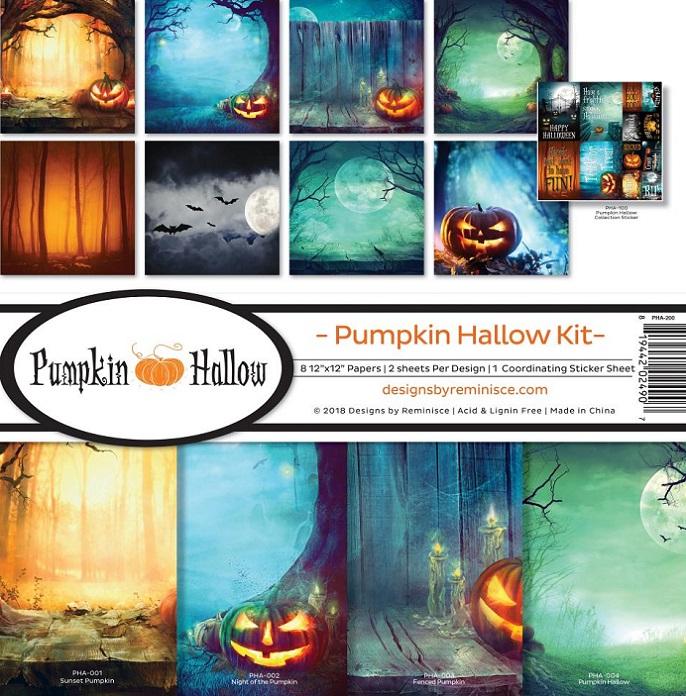 Reminisce Ella & Viv Collection Kit 12×12 - PHA200 Pumpkin Hallow