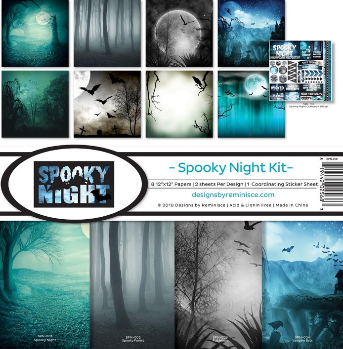 Reminisce Ella & Viv Collection Kit 12×12 - SPN200 Spooky Night