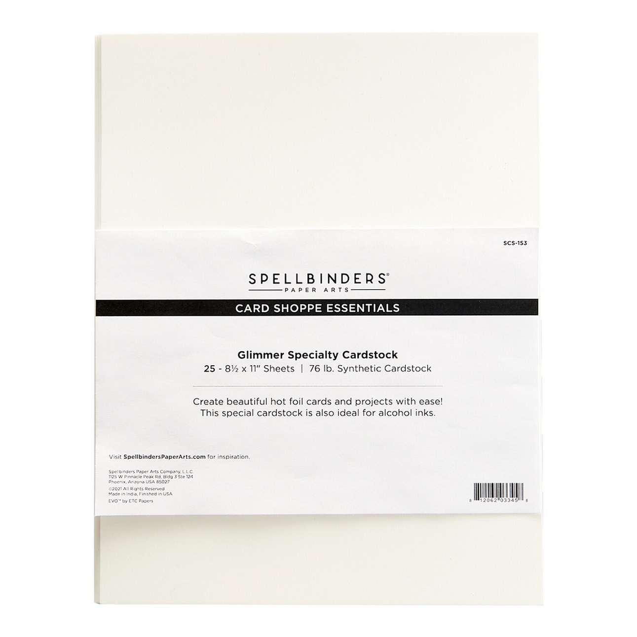 Spellbinders Cardstock - SCS-153 Glimmer Specialty 25枚入