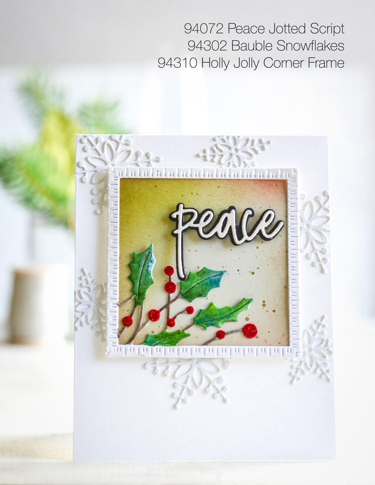 Memory Box Die  -  94310 Holly Jolly Corner Frame
