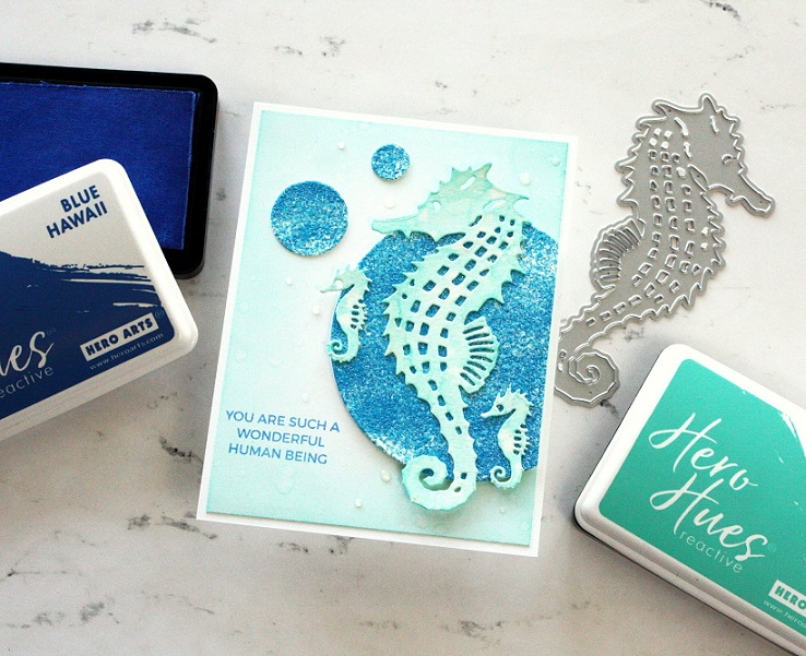 Hero Arts Embossing Powder - PW128 Sparkling Sea