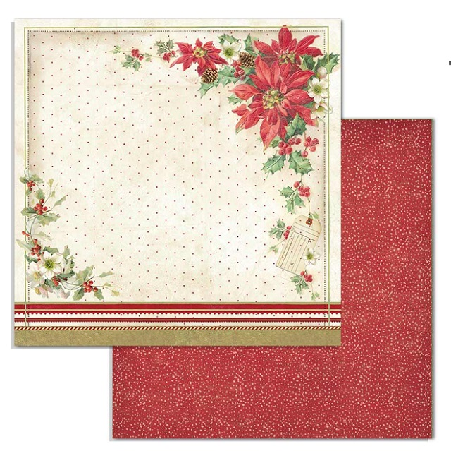 Stamperia Paper Pad 12×12 - SBBL74 Classic Christmas