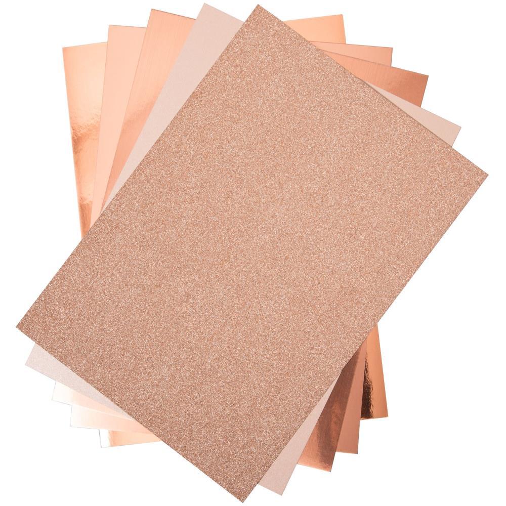 Sizzix 664534 Surfacez Opulent Cardstock A4 - Rose Gold