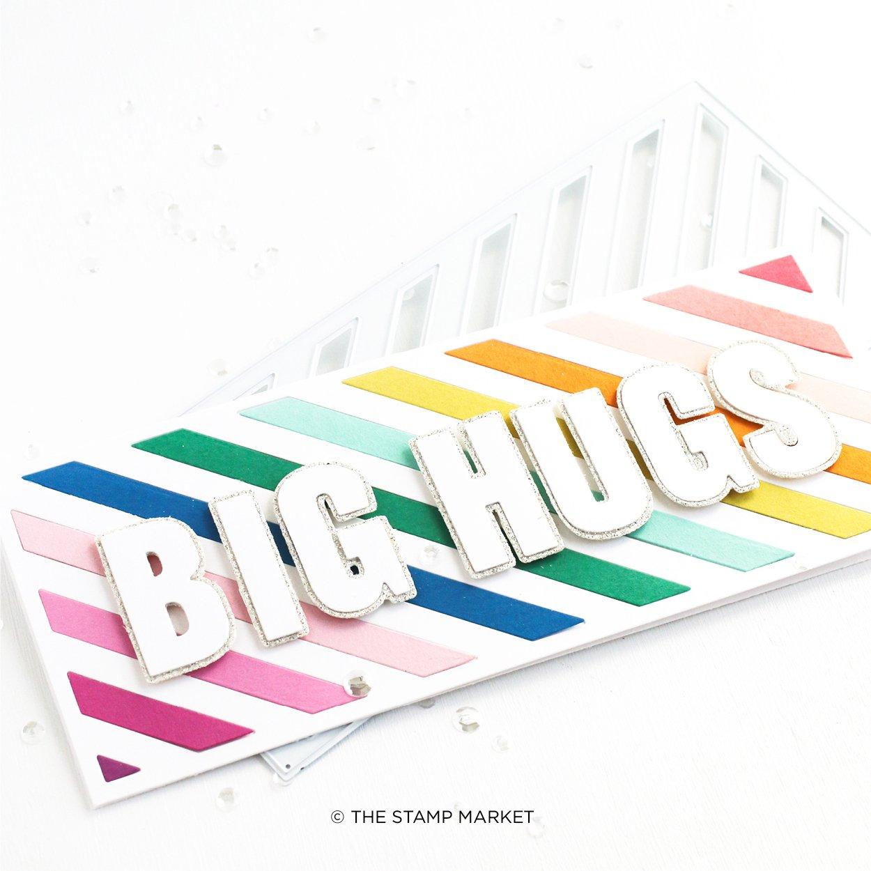 The Stamp Market Die - Diagonal Stripes Slimeline