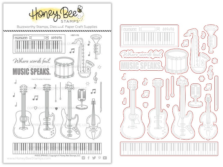 Honey Bee Stamps - セット♪ Music Speaks