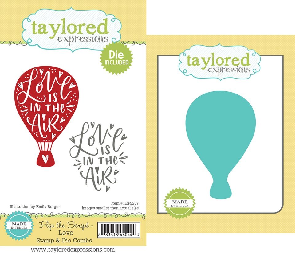 Taylored Expressions ダイ&スタンプセット♪ - TEPS257 Flip the Script - Love