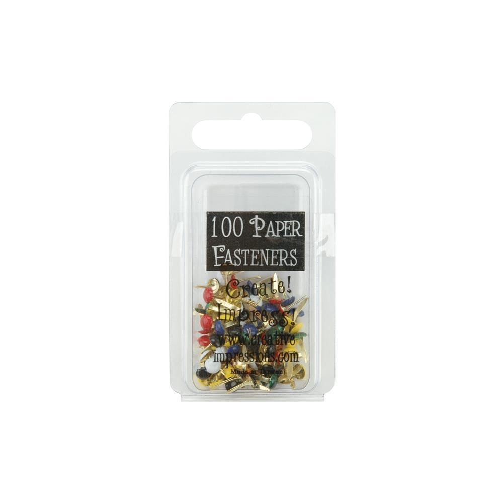Creative Impressions Mini Brads - CI90190 Round - Primary