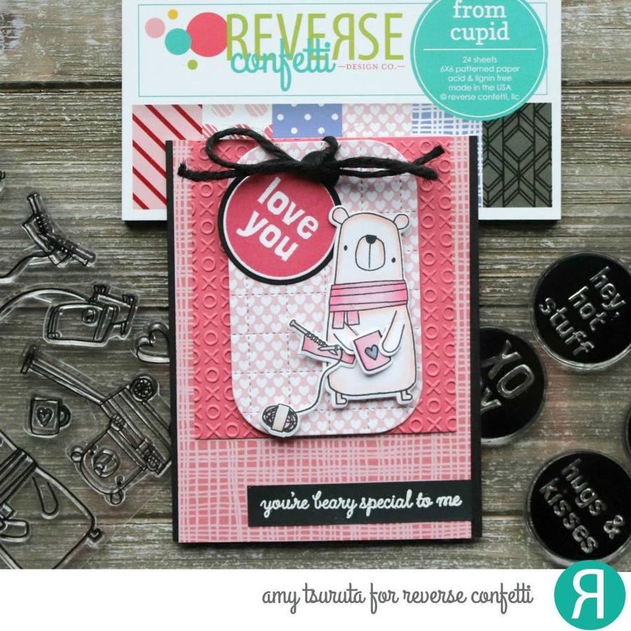Reverse Confetti Clear Stamp - Big Bear