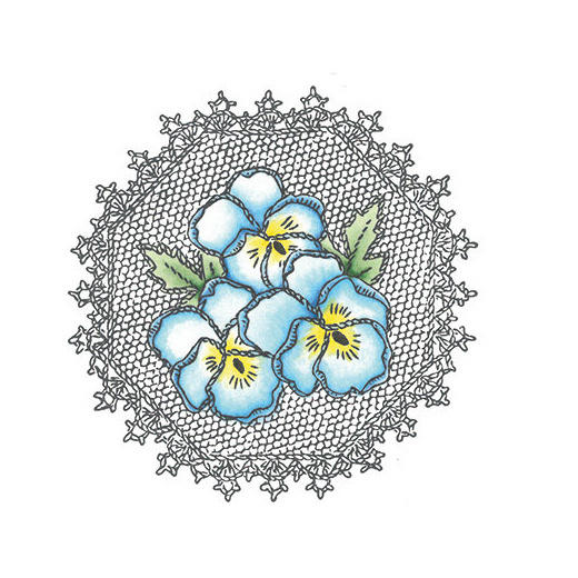 Marianne Design Cling stamps - TC0832 Pansies