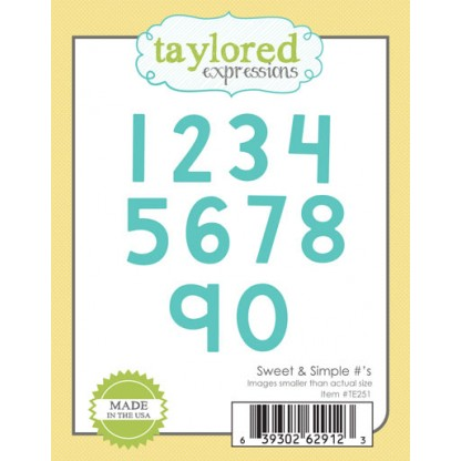 Taylored Expressions Dies - TE251 Sweet & Simple #'s