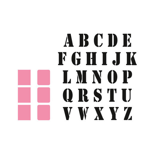 Marianne Design Collectable - COL1396 Stencil Alphabet