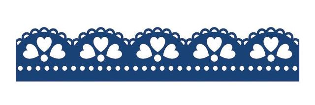 Tattered Lace Die - Scallop Heart Border