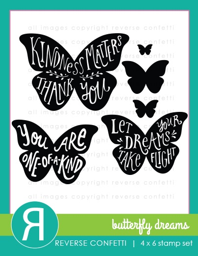 Reverse Confetti Clear Stamp - Butterfly Dreams