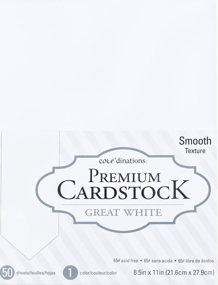 Core'dinations Value Pack Smooth Cardstock  8.5X11inch - White  (377687)