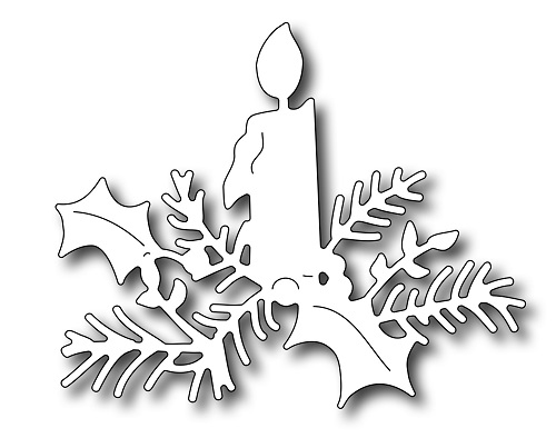 Frantic Stamper Precision Dies - 09618 Christmas Candle