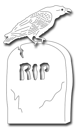 Frantic Stamper Precision Dies - 09955 Tombstone And Raven