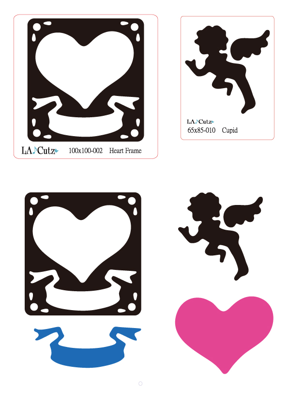 LA♪Cutz  Set-001 Heart Frame & Cupid