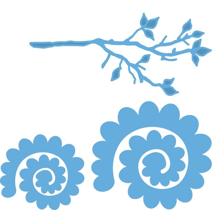 Marianne Design Creatables - LR0256 Branch and flower 1