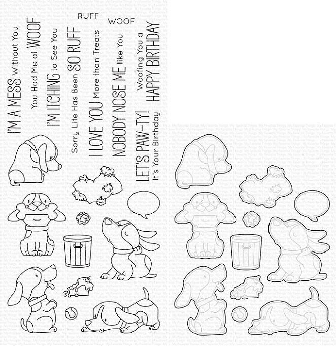 Die-namics - MFT-1765+BB-105 BB Woof Pack スタンプ&ダイセット♪