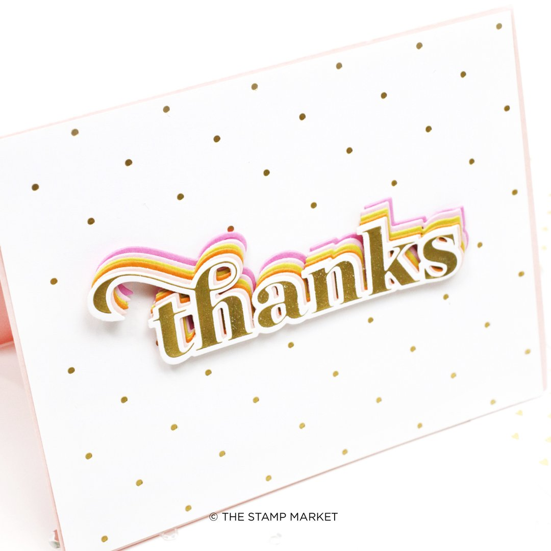 The Stamp Market Foil Plates & Die - TSM02FP Say Thanks