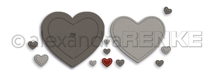 Alexandra Renke Die - D-AR-Hz0030 Heart folding card