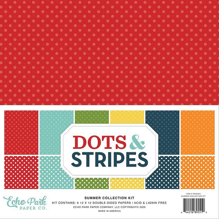 Echo Park Collection Pack 12×12 - DS20034 Dots & Stripes Summer