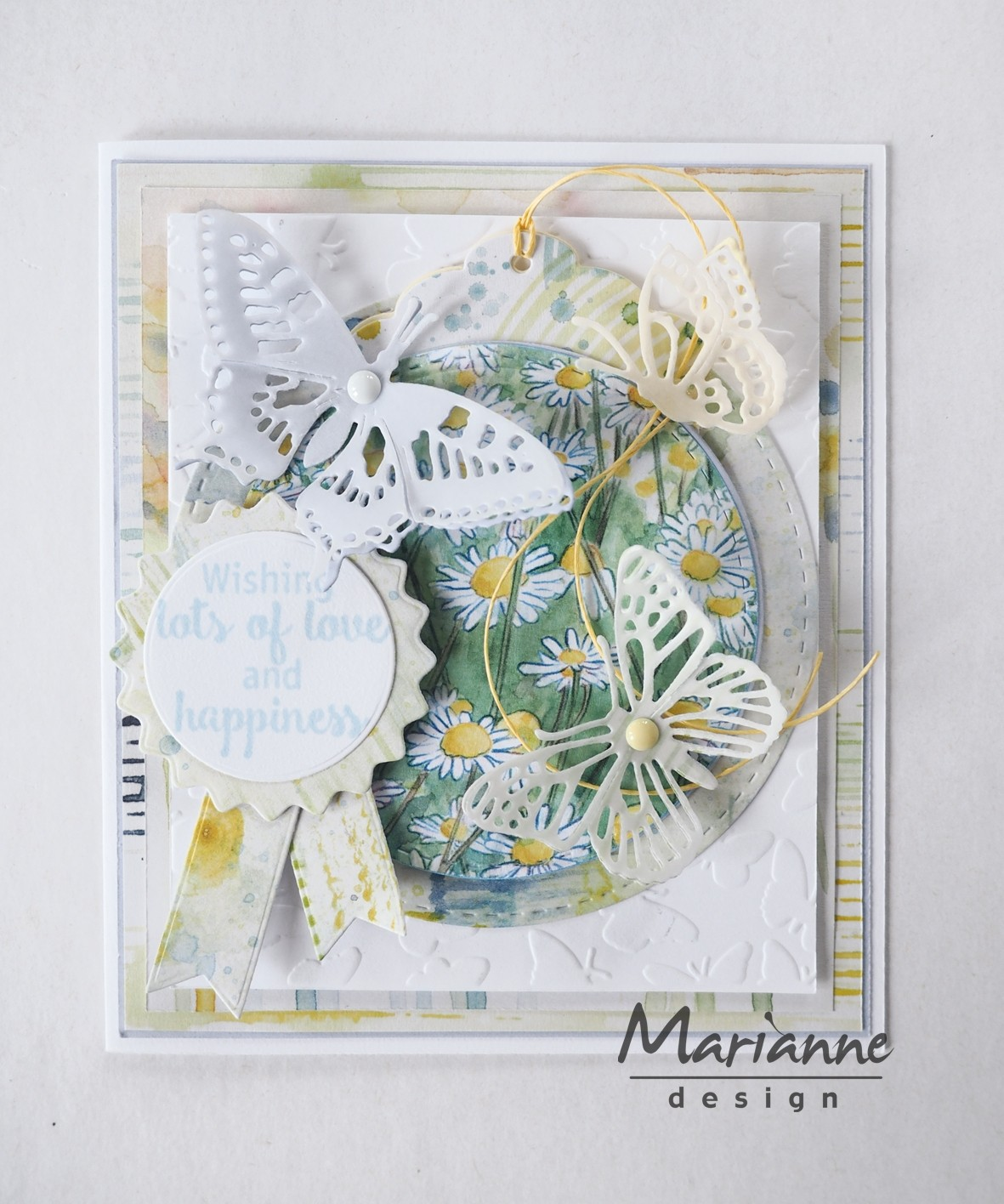 Marianne Design Collectable - COL1444 Rosettes & Labels