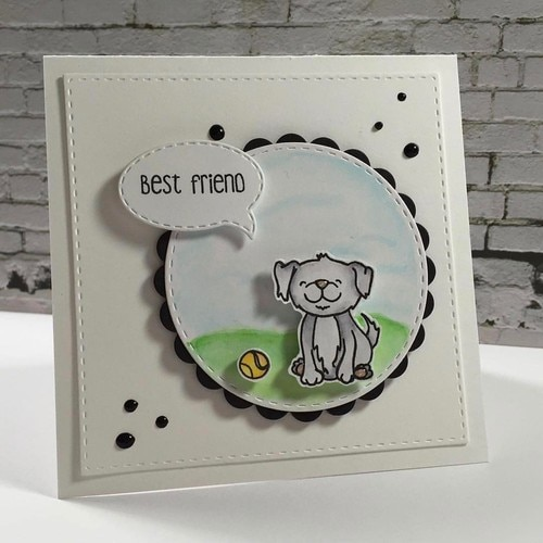 Honey Bee Stamps - Playful Pups ※在庫限り※