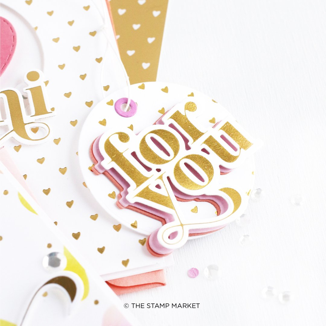 The Stamp Market Foil Plates & Die - TSM03FP It's For You