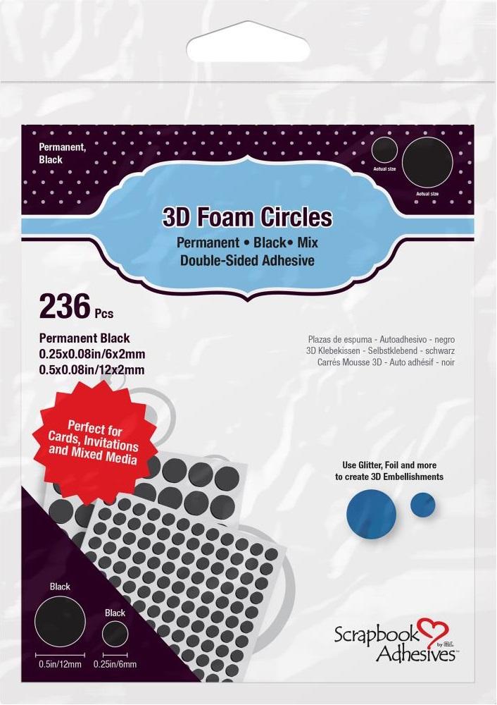 Scrapbook Adhesives - 1227 3D Foam Circles - Black