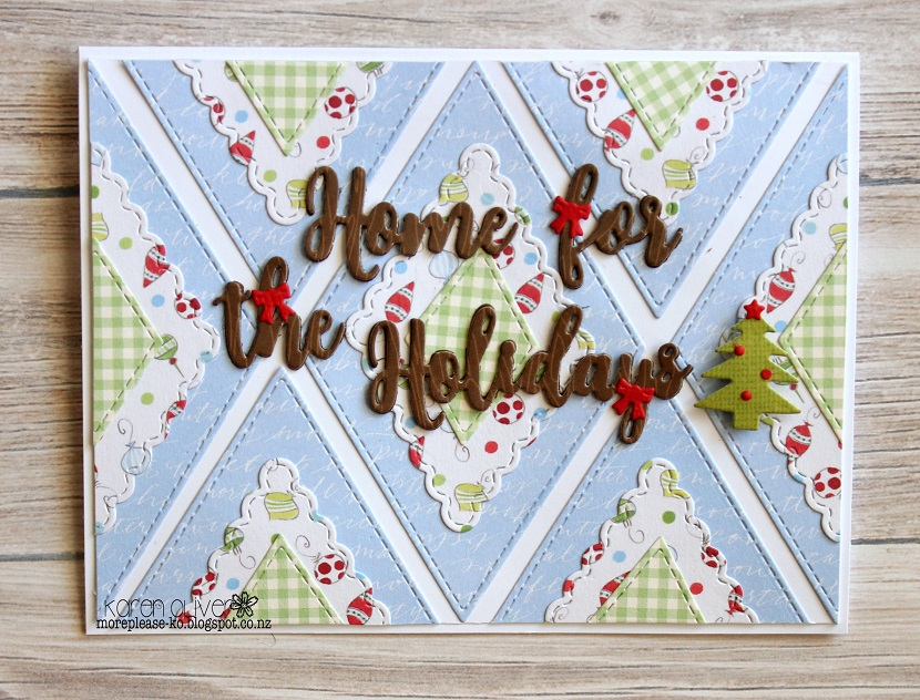 Frantic Stamper Precision Dies - 10323 Home For The Holidays