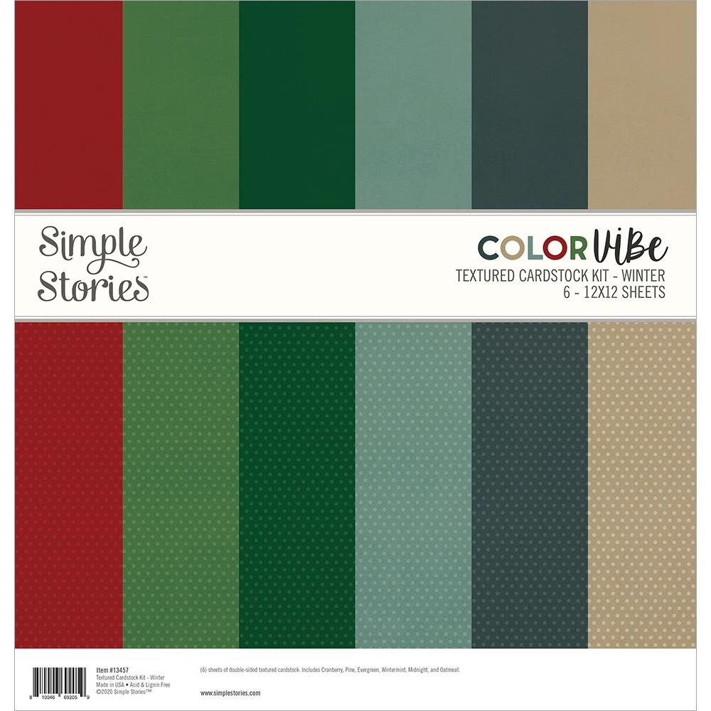 Simple Stories Color Vibe Paper Pack 12×12 - 13457 Winter