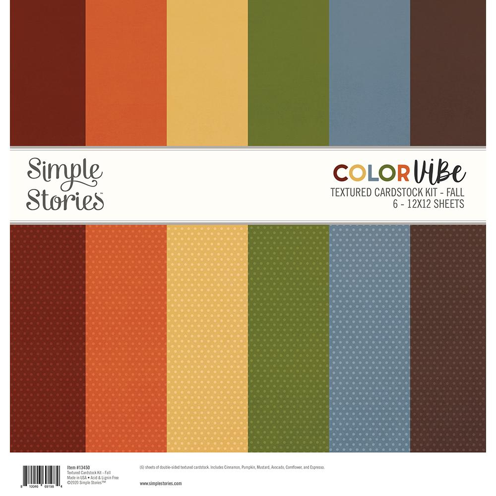Simple Stories Color Vibe Paper Pack 12×12 - 13450 Fall