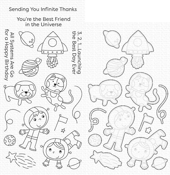 Die-namics - MFT-1775+CS-488 Best Friends in the Universe スタンプ&ダイセット♪
