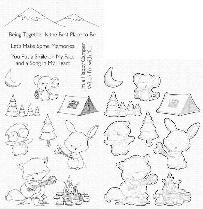 Die-namics - MFT-1768+SY-21 SY Happy Campers スタンプ&ダイセット♪