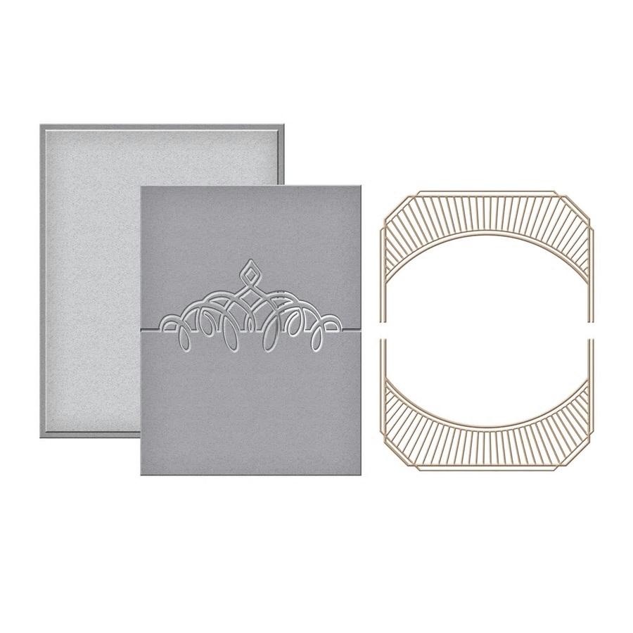 Spellbinders Glimmer Hot Foil Plates + Die - GLP-040 Place Card Mini Topper