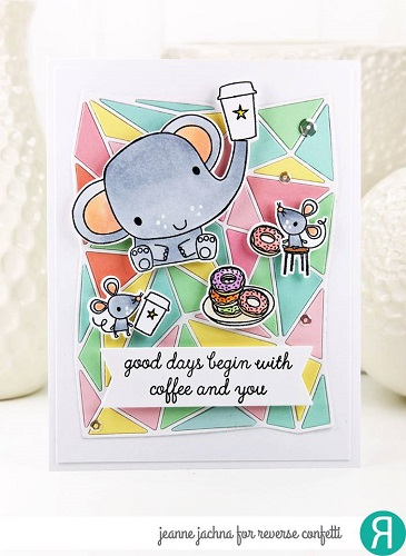 Reverse Confetti Clear Stamp - Coffee and You