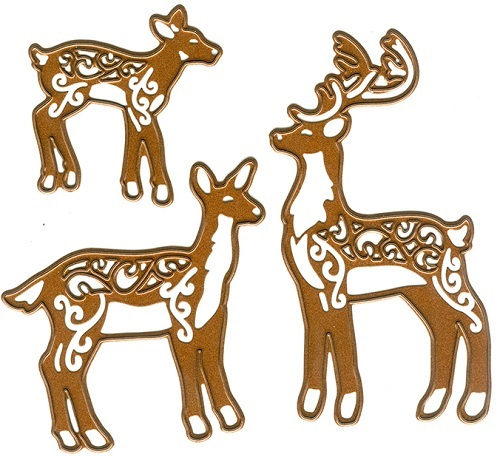 Creative Expressions Die - CED3042 Deer Family