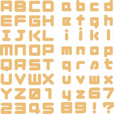 LA♪Cutz  4X8-AKACHAN-AW  AKACHAN Alphabet Set