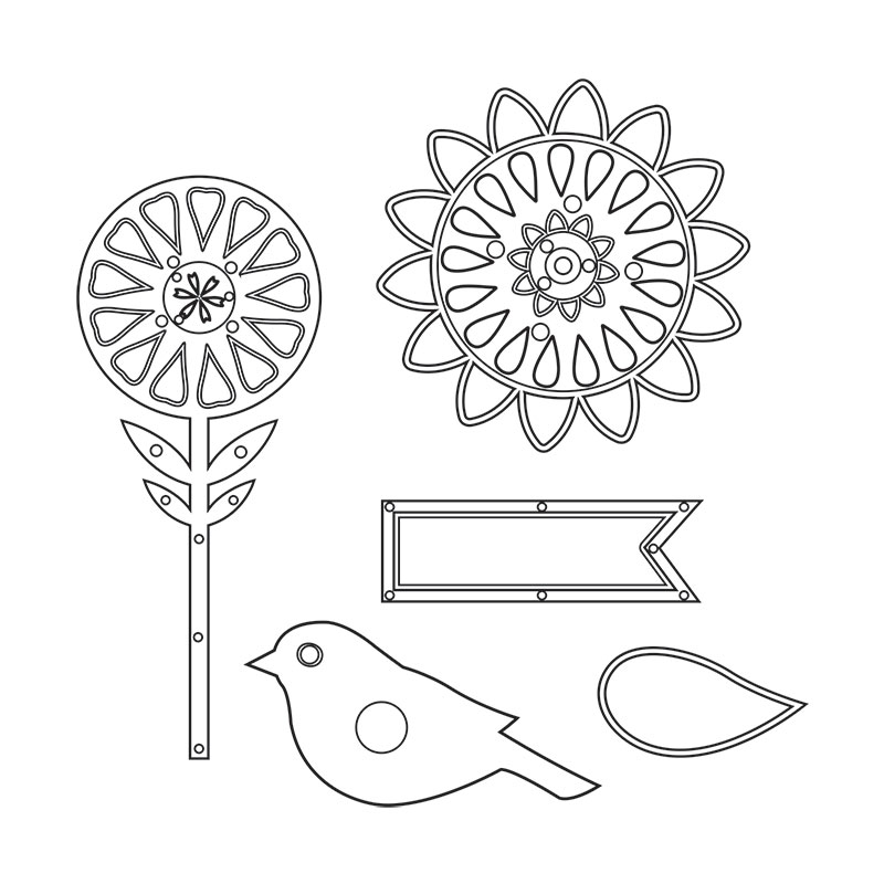 Sizzix Thinlits 659116 So Happy Together by Echo Park