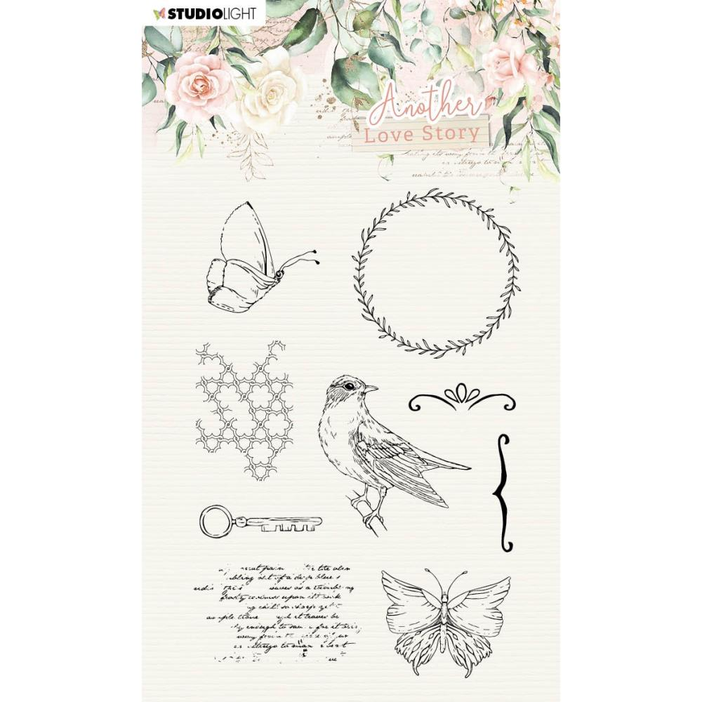 Studio Light Clear Stamp - SL-ALS-STAMP03 Another Love Story Romantic Elements