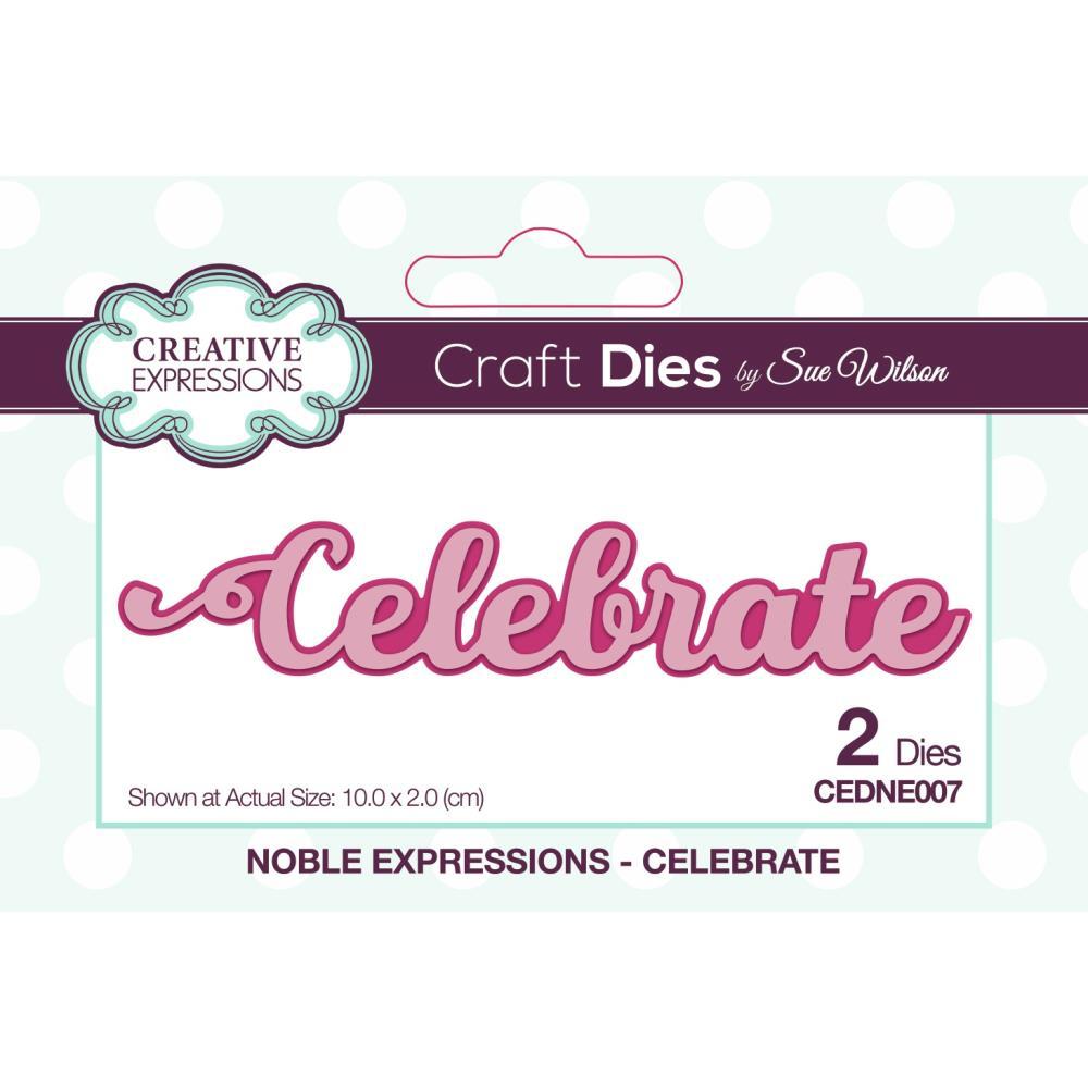 Creative Expressions Die - CEDNE007 Noble Sentiments- Celebrate