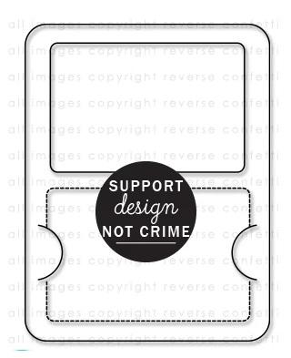 Reverse Confetti Confetti Cuts - Gift Card Holder Cover Panel