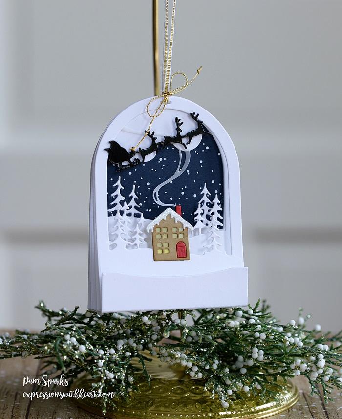 Memory Box Die  - 94491 Snowglobe Backer